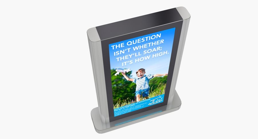 Advertising Billboard royalty-free 3d model - Preview no. 4