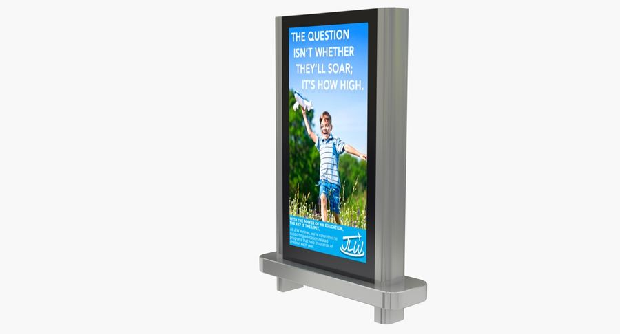 Advertising Billboard royalty-free 3d model - Preview no. 3