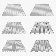 Profiled Sheets Collection 3d model