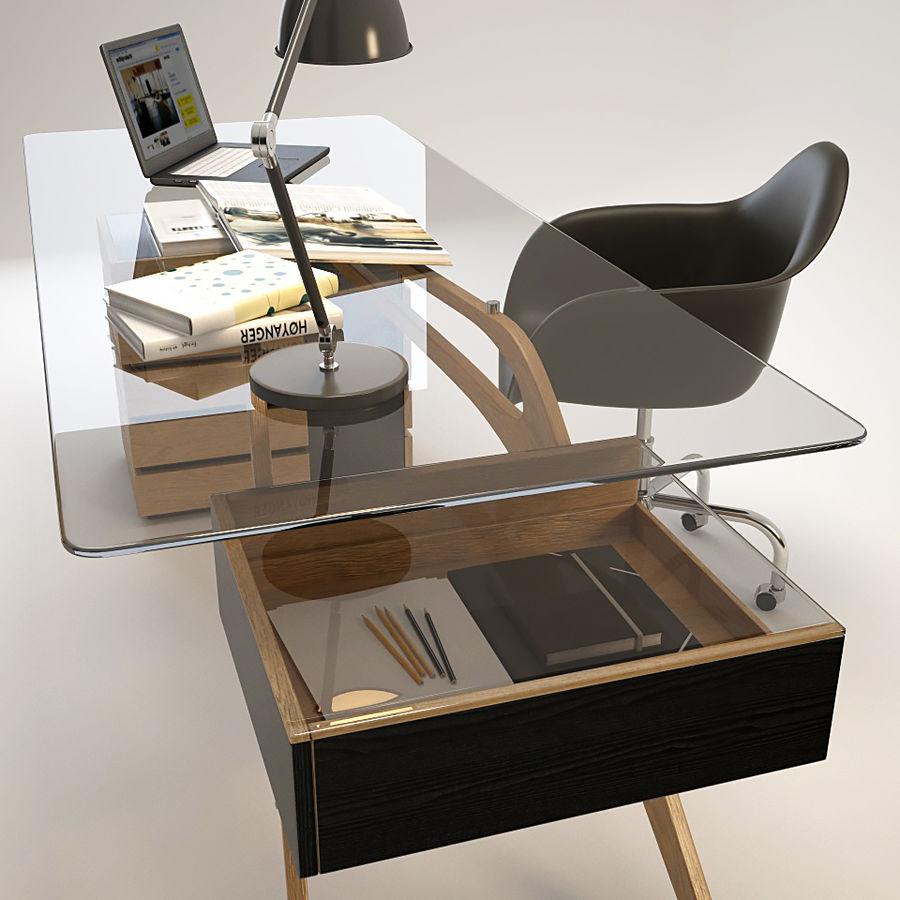 Desk CAVOUR royalty-free 3d model - Preview no. 5