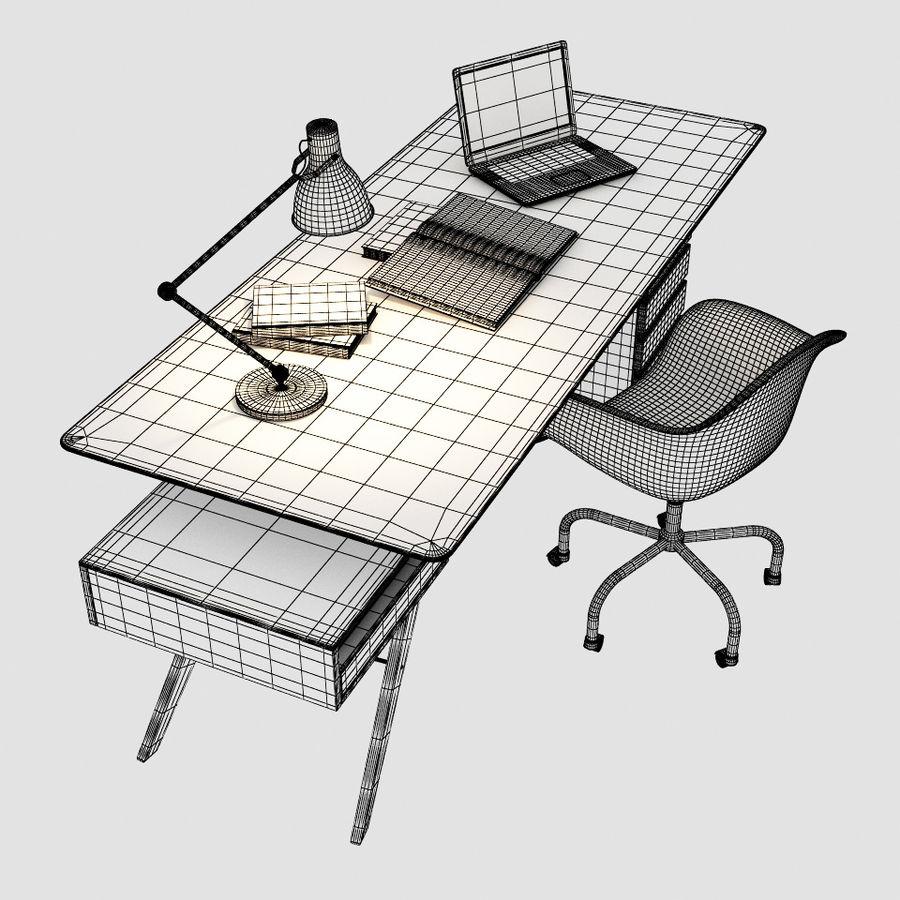 Desk CAVOUR royalty-free 3d model - Preview no. 6