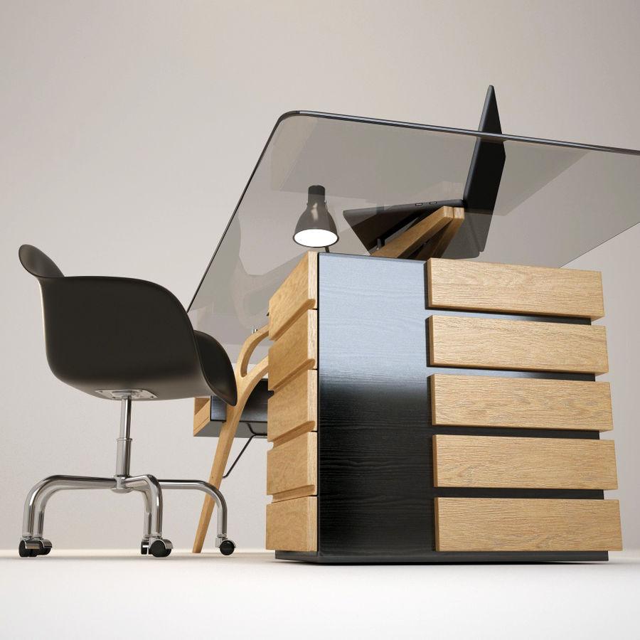 Desk CAVOUR royalty-free 3d model - Preview no. 4