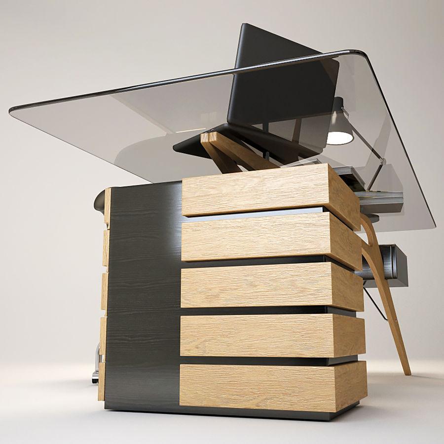 Desk CAVOUR royalty-free 3d model - Preview no. 3