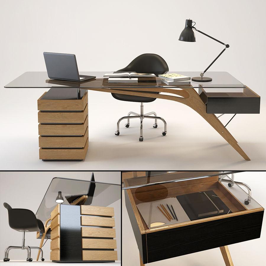Desk CAVOUR royalty-free 3d model - Preview no. 1