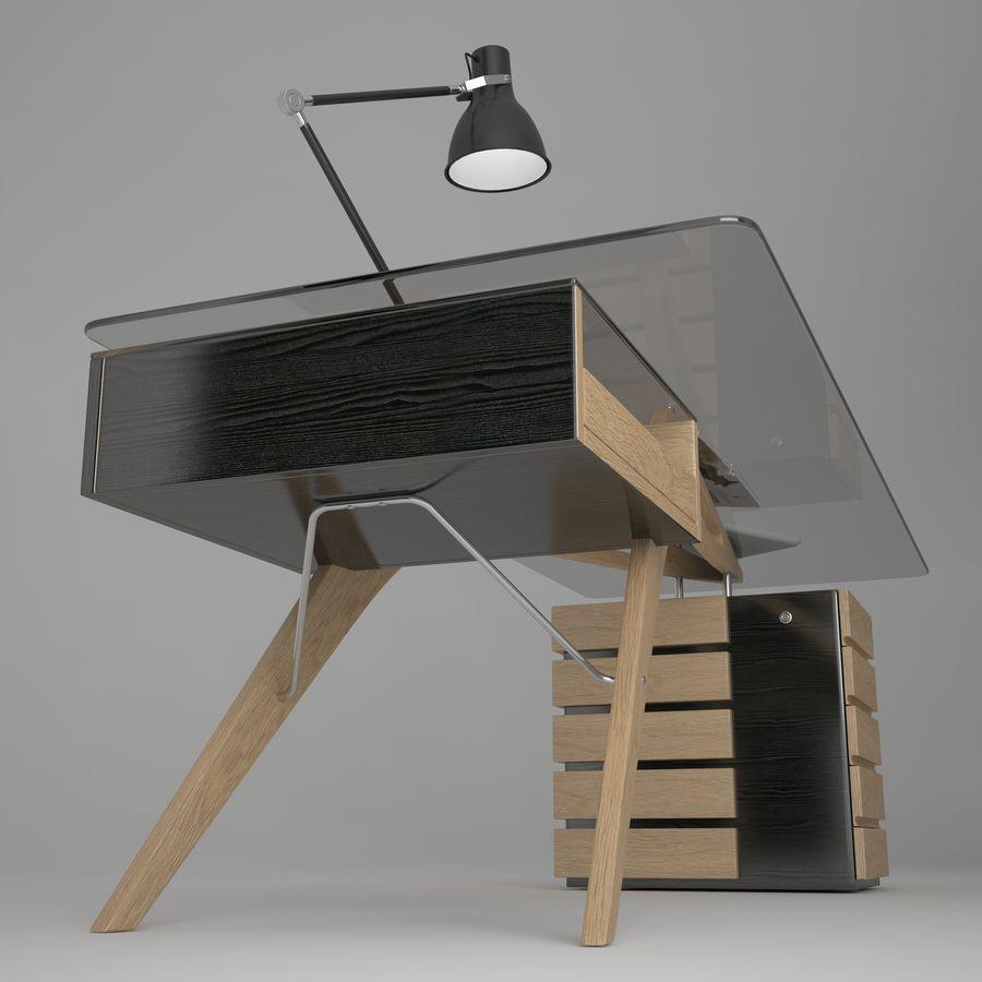 Desk CAVOUR royalty-free 3d model - Preview no. 2