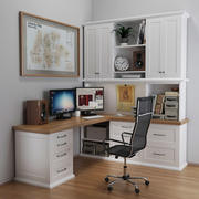 Desktop classico in bianco 3d model