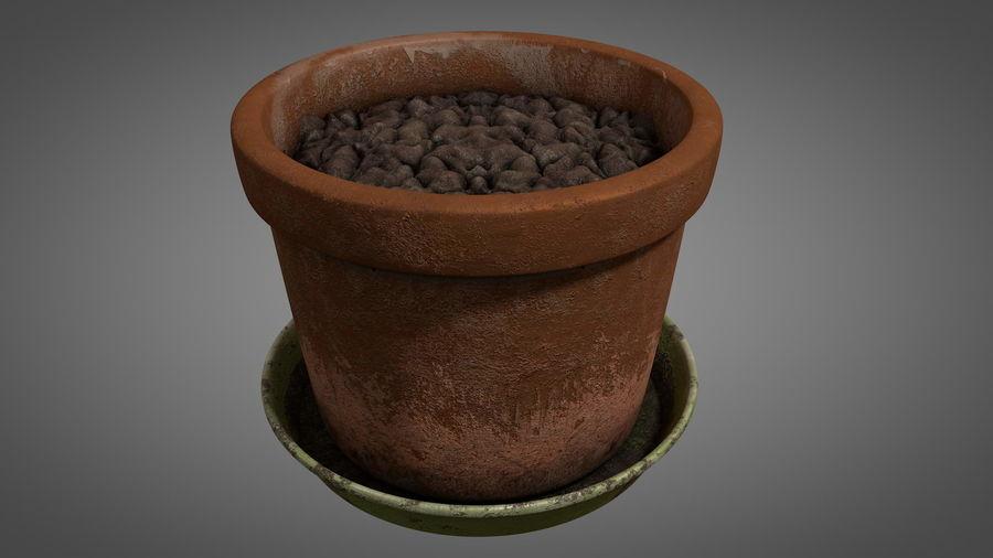 Planteur de pots de fleurs vintage royalty-free 3d model - Preview no. 5