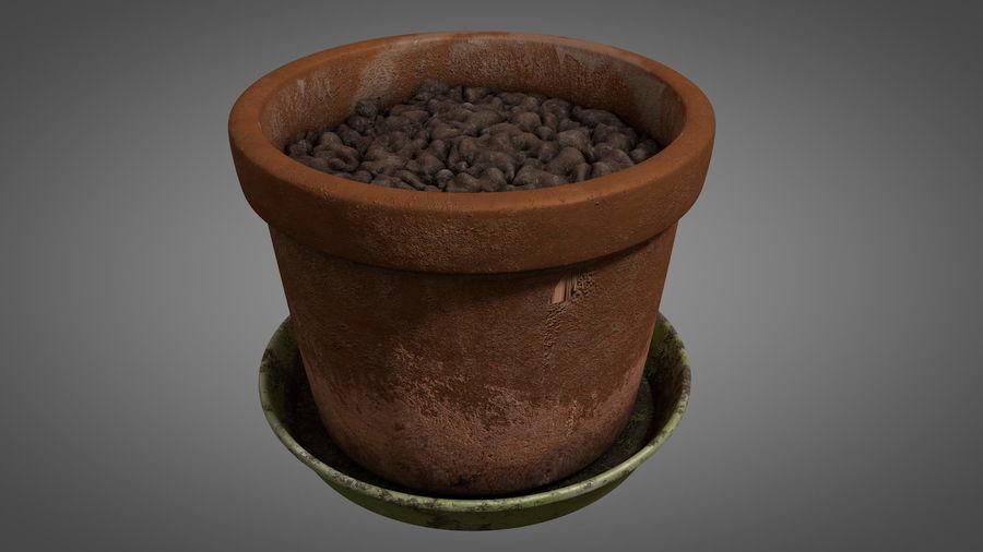 Planteur de pots de fleurs vintage royalty-free 3d model - Preview no. 6