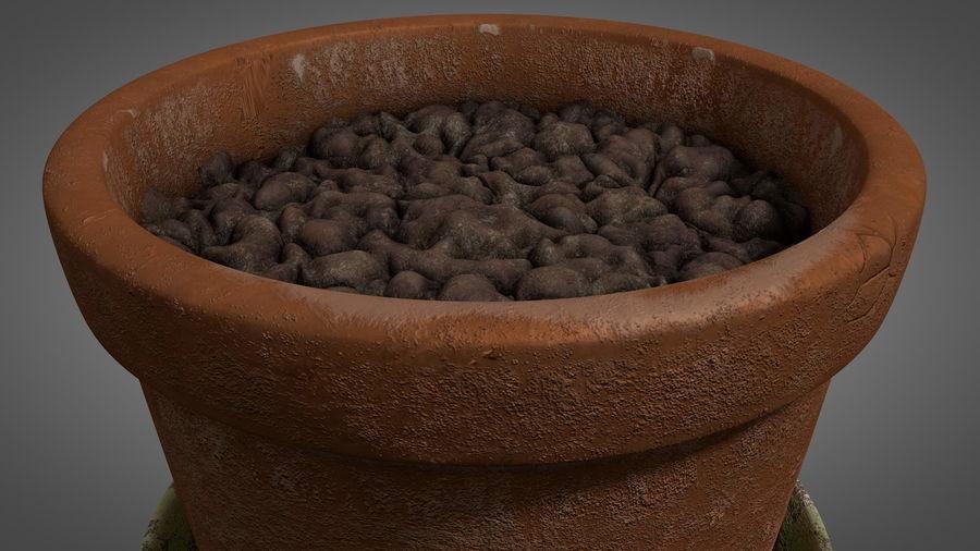 Planteur de pots de fleurs vintage royalty-free 3d model - Preview no. 10