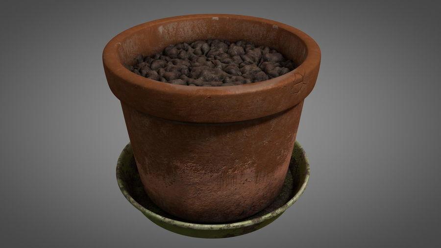 Planteur de pots de fleurs vintage royalty-free 3d model - Preview no. 1