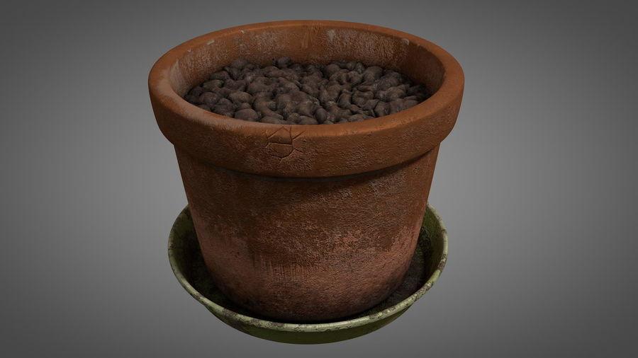 Planteur de pots de fleurs vintage royalty-free 3d model - Preview no. 3