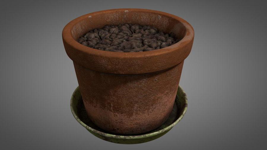 Planteur de pots de fleurs vintage royalty-free 3d model - Preview no. 8