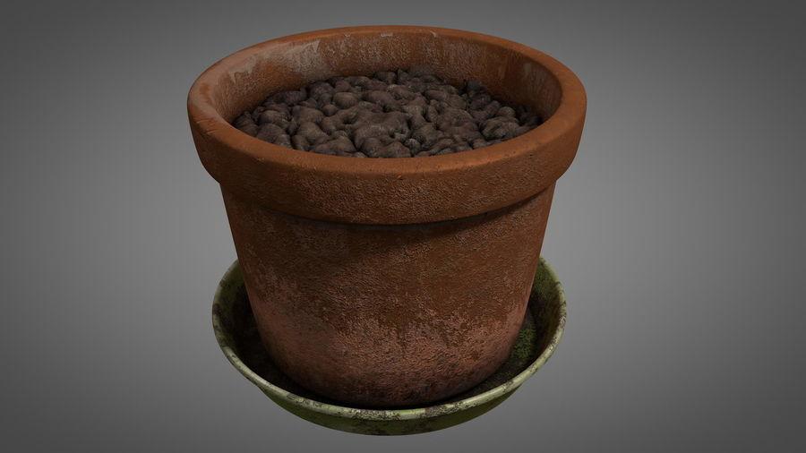 Planteur de pots de fleurs vintage royalty-free 3d model - Preview no. 4