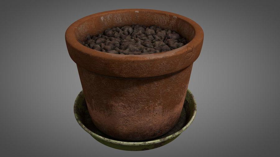Planteur de pots de fleurs vintage royalty-free 3d model - Preview no. 2