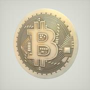 Bitcoin 4k texture 3d model