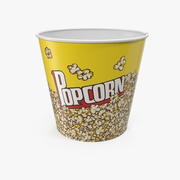 Pusty model 3D Big Popcorn Bucket 3d model