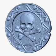 Pirate Coin 3d model