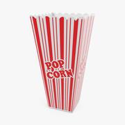 Empty Long Popcorn Cup 3D Model 3d model