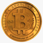 Bitcoin goud 3d model