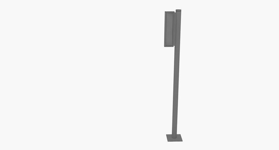 Saída de sinal do aeroporto royalty-free 3d model - Preview no. 6