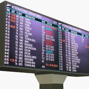 Panneau des départs de l'aéroport 3d model