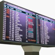 Flygplatsavgångar tecken 3d model