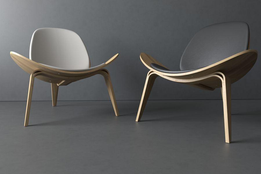 Krzesło. Hans Wegner royalty-free 3d model - Preview no. 5