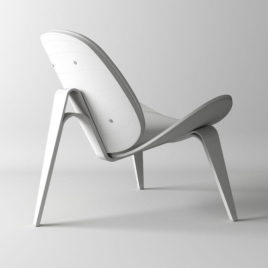 Krzesło. Hans Wegner royalty-free 3d model - Preview no. 4