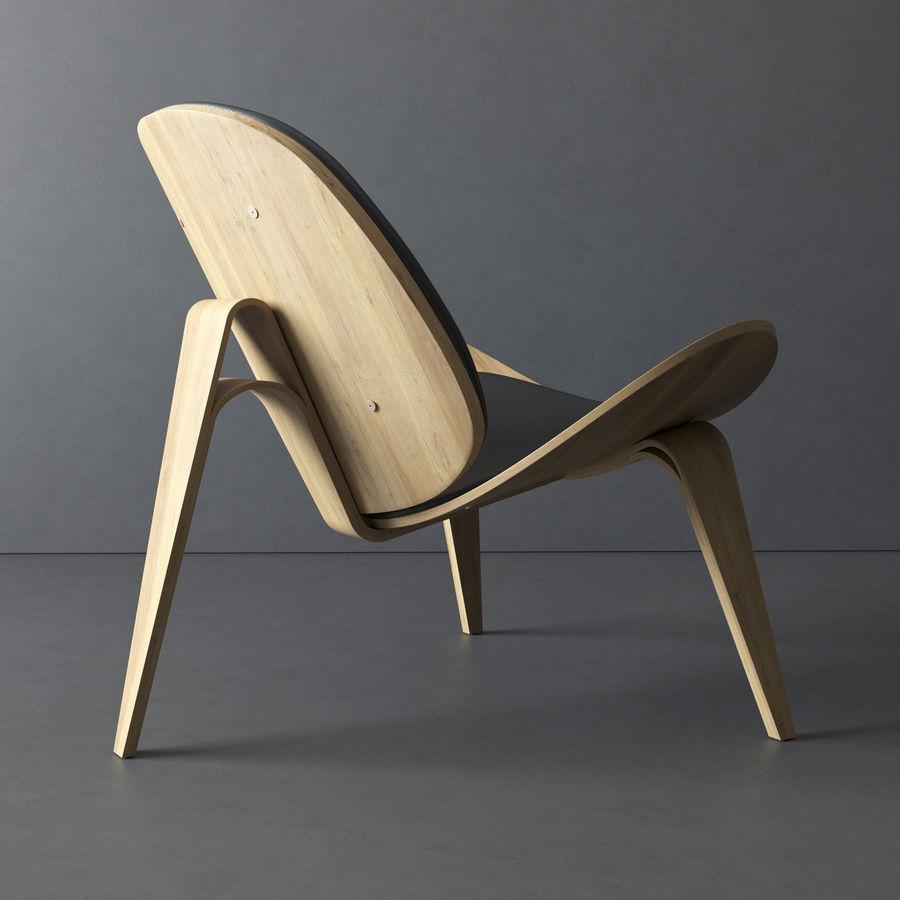 Krzesło. Hans Wegner royalty-free 3d model - Preview no. 3