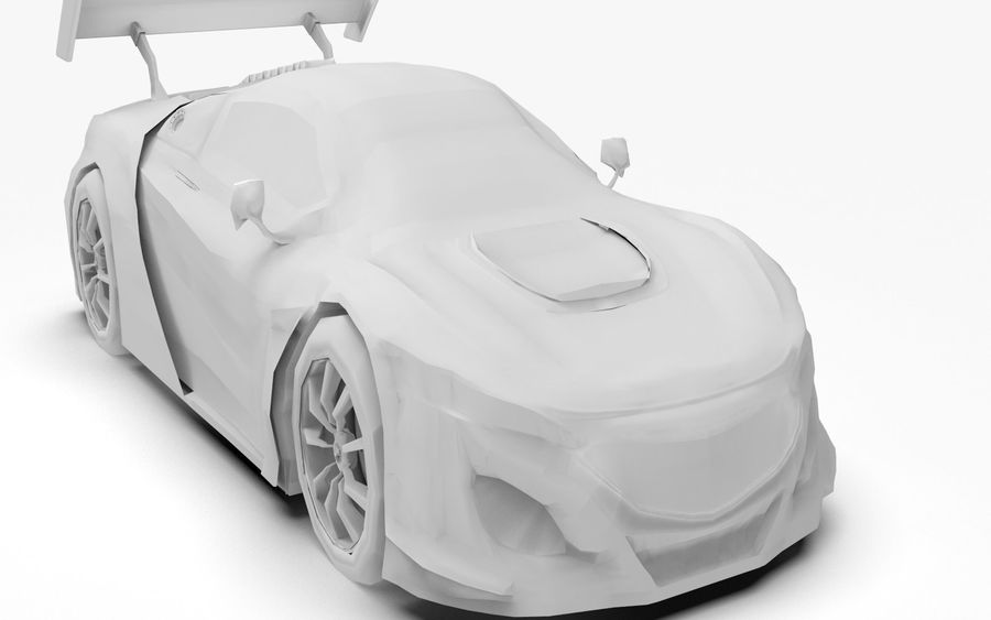 Modèle de base de voiture de course de sport royalty-free 3d model - Preview no. 9