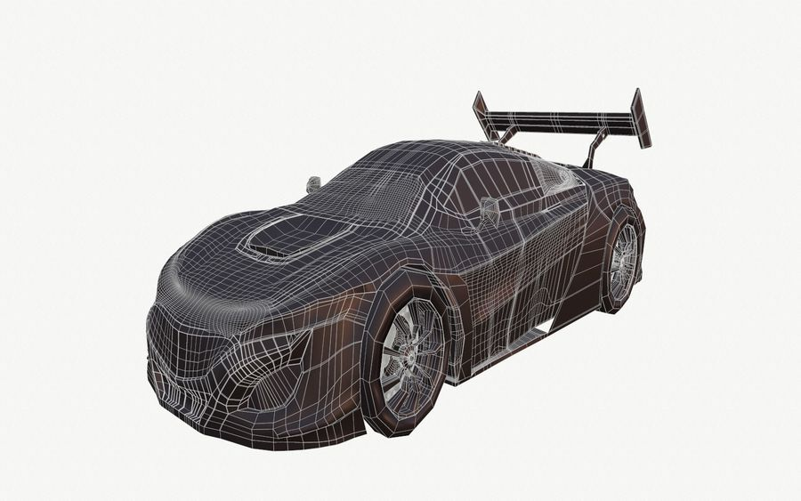 Modèle de base de voiture de course de sport royalty-free 3d model - Preview no. 10