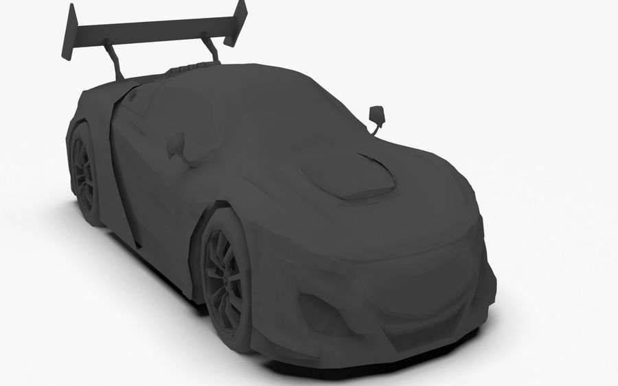Modèle de base de voiture de course de sport royalty-free 3d model - Preview no. 7