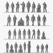 Люди низкополигональная 3d model