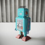 빈티지 로봇 장난감 3d model