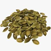 Peeled Pumpkin Seeds Pile 3d model