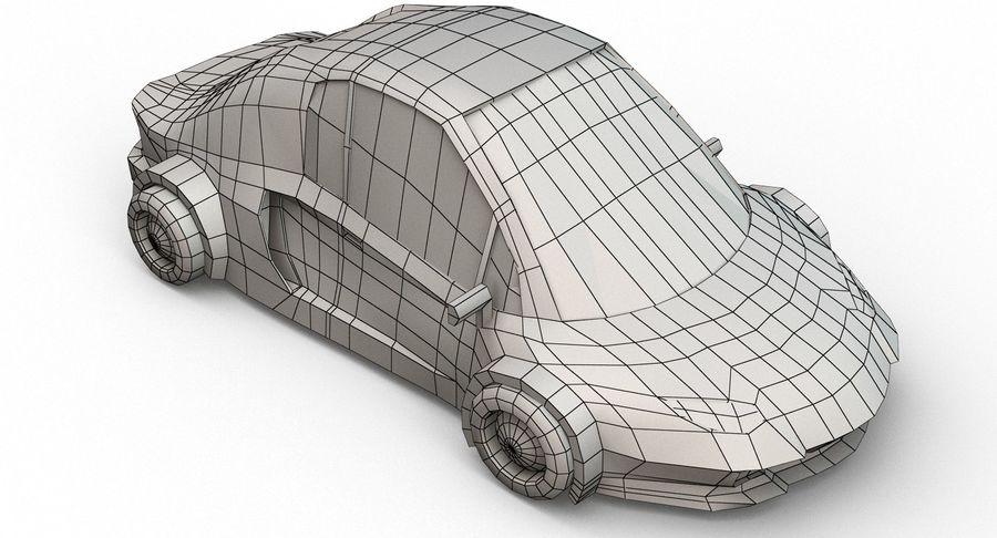 Cartoon Sport Car v.1 royalty-free 3d model - Preview no. 21