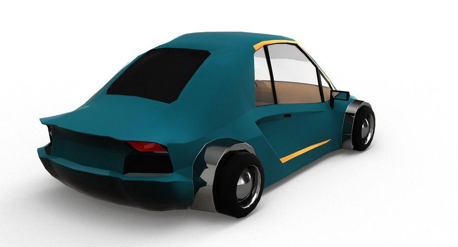 Cartoon Sport Car v.1 royalty-free 3d model - Preview no. 6