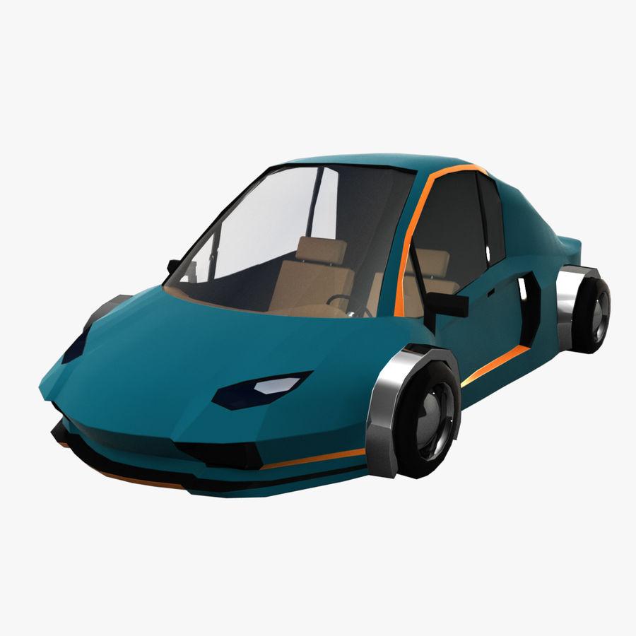 Cartoon Sport Car v.1 royalty-free 3d model - Preview no. 1
