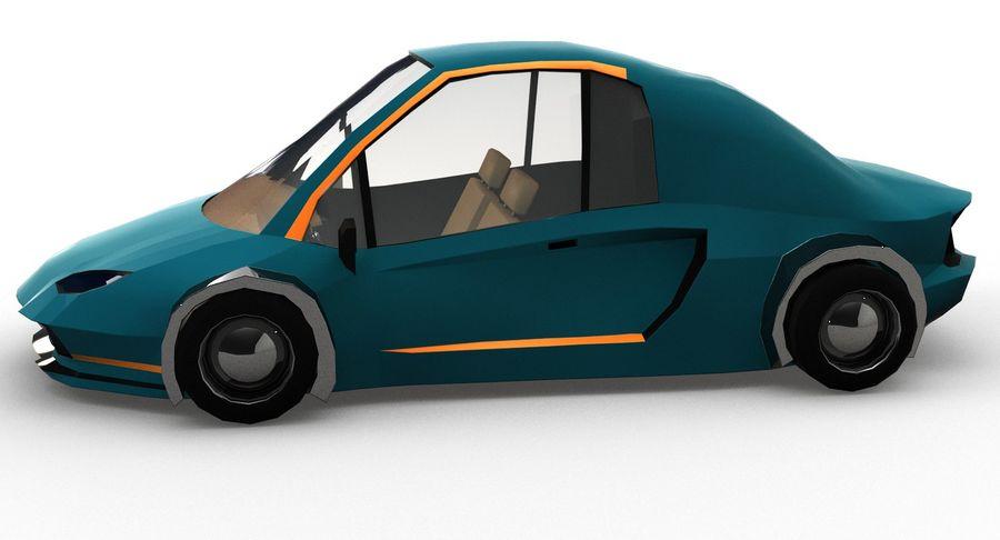 Cartoon Sport Car v.1 royalty-free 3d model - Preview no. 3