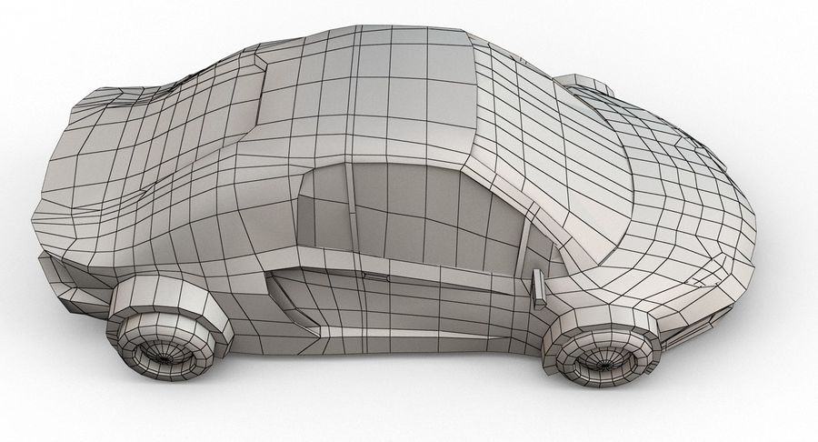 Cartoon Sport Car v.1 royalty-free 3d model - Preview no. 20