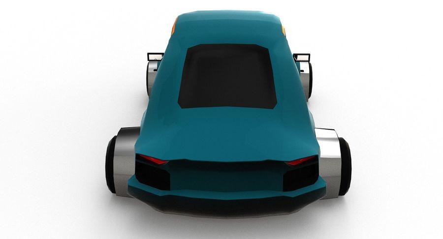 Cartoon Sport Car v.1 royalty-free 3d model - Preview no. 5