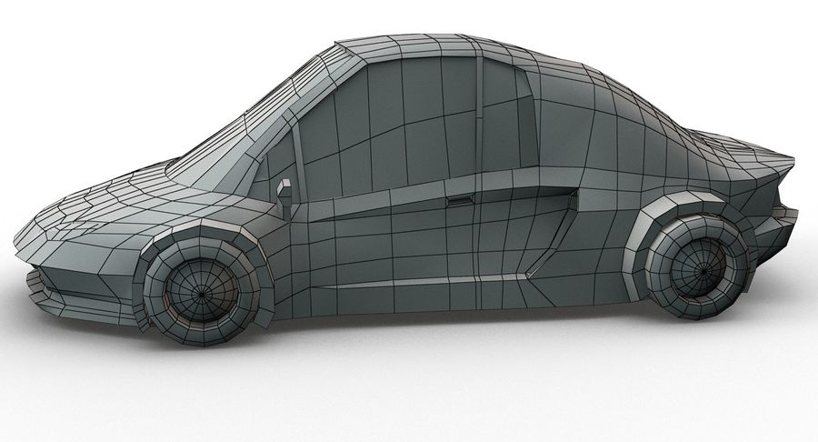 Cartoon Sport Car v.1 royalty-free 3d model - Preview no. 15