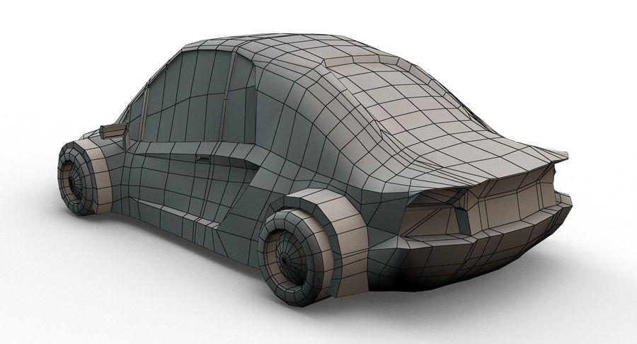 Cartoon Sport Car v.1 royalty-free 3d model - Preview no. 16