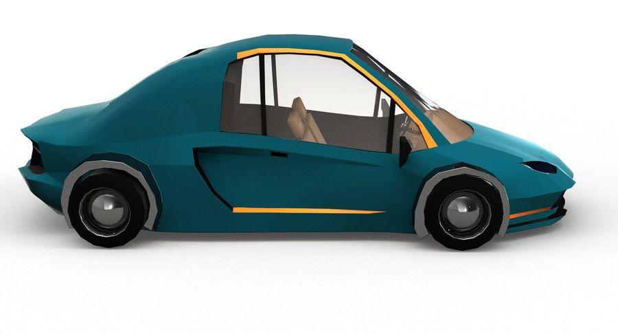 Cartoon Sport Car v.1 royalty-free 3d model - Preview no. 7