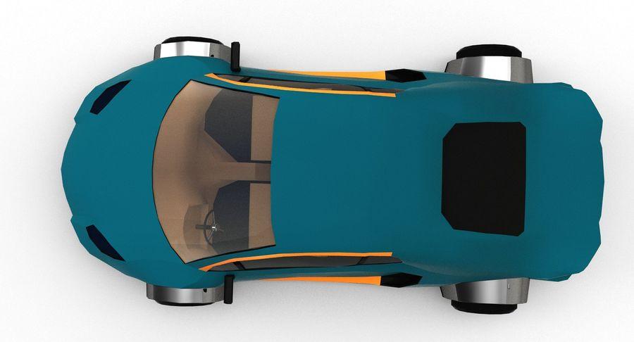 Cartoon Sport Car v.1 royalty-free 3d model - Preview no. 11