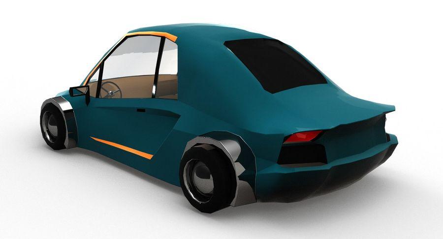 Cartoon Sport Car v.1 royalty-free 3d model - Preview no. 4