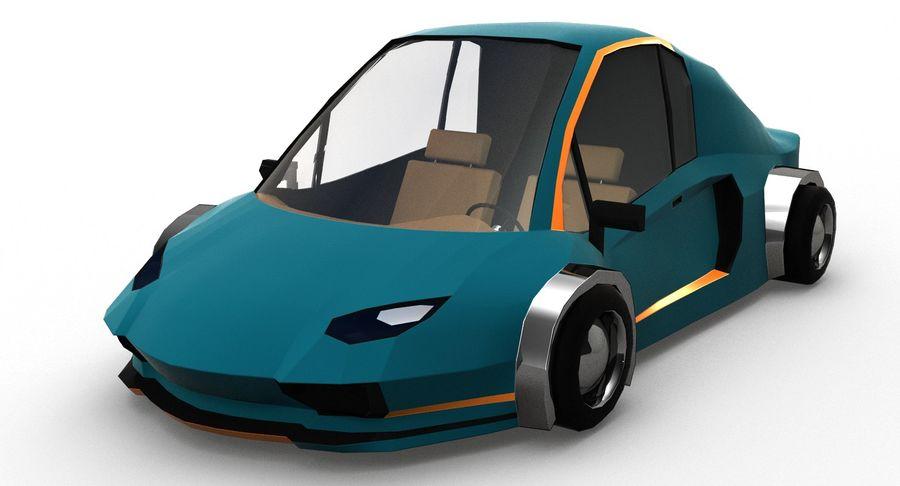 Cartoon Sport Car v.1 royalty-free 3d model - Preview no. 2
