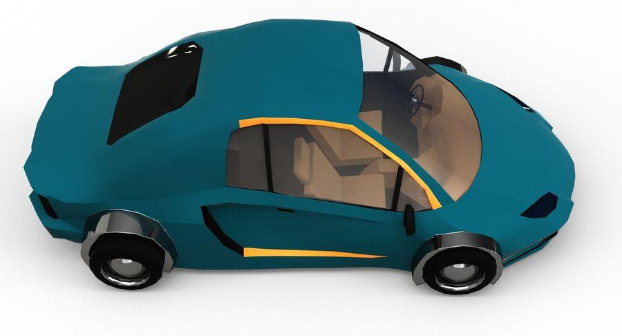 Cartoon Sport Car v.1 royalty-free 3d model - Preview no. 8