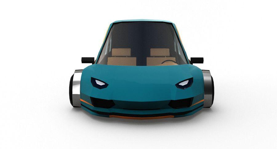 Cartoon Sport Car v.1 royalty-free 3d model - Preview no. 10