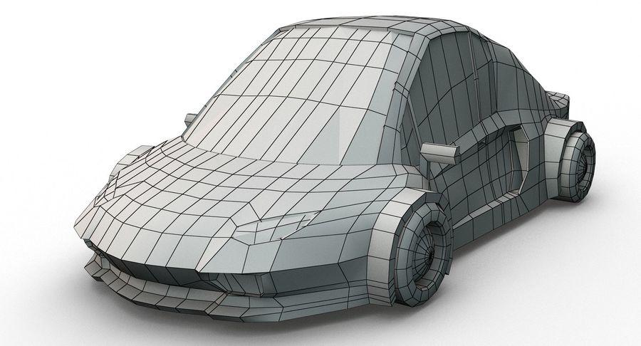 Cartoon Sport Car v.1 royalty-free 3d model - Preview no. 14